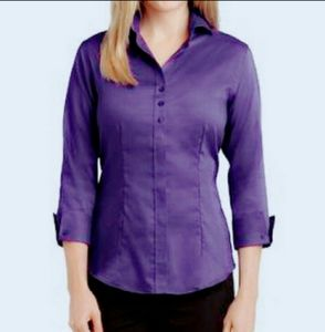 BOGO! Royal Purple Button Down Blouse sz M